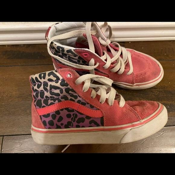 Vans Shoes | Girls Pink Leopard Print